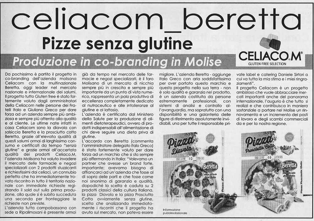 Quotidiano del Molise su Celiacom
